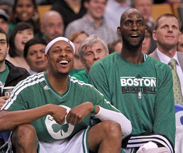 Kevin Garnett Paul Pierce Boston Celtics