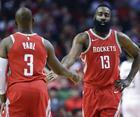 Chris Paul James Harden Houston Rockets All Star Game