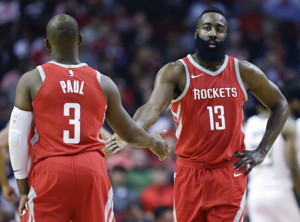 Chris Paul James Harden Houston Rockets All Star Game