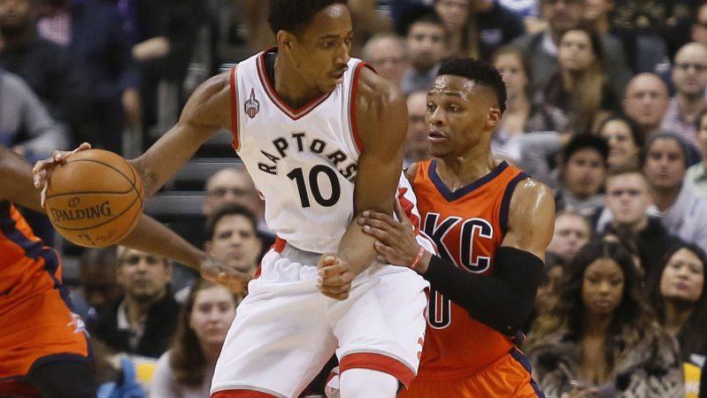 DeRozan Westbrook Raptors Thunder