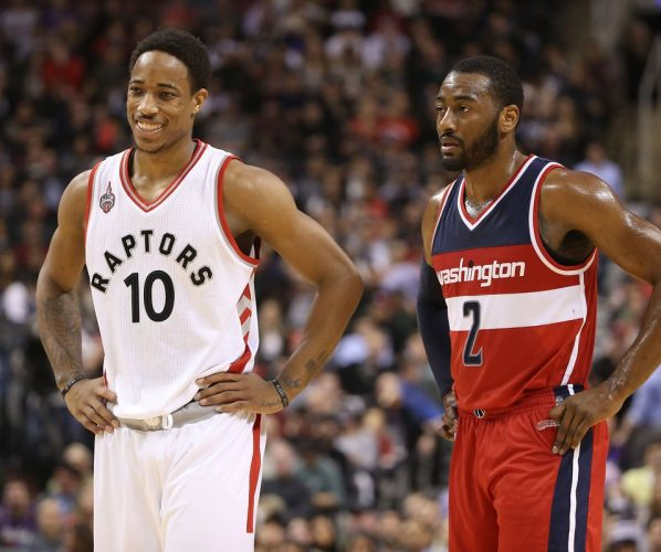 Derozan Wall Raptors Wizards
