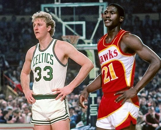 Dominique Wilkins larry bird celtics