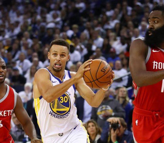 Curry Harden Paul Warriors Rockets