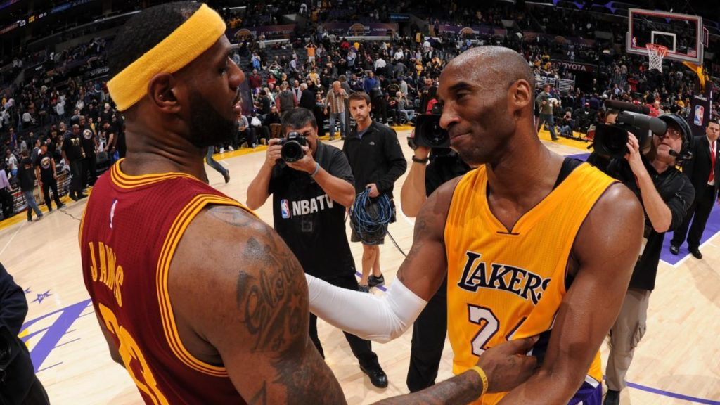 Kobe Bryant LeBron James Los Angeles Lakers