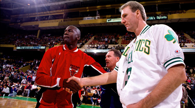 Michael Jordan, Larry Bird NBA