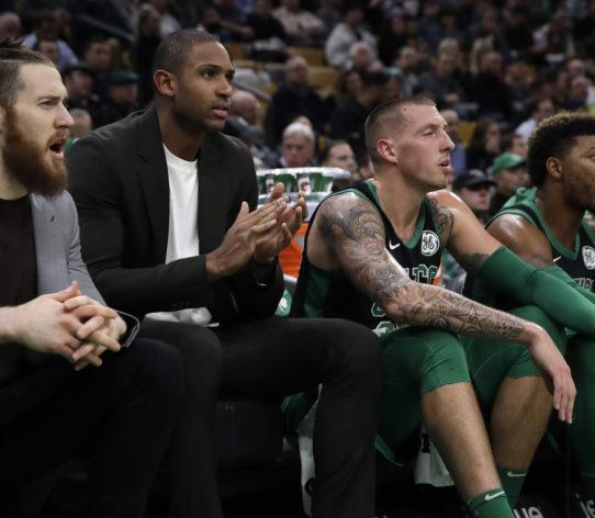 Boston Celtics bench ławka