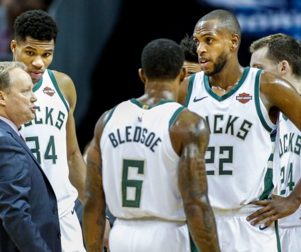 Khris Middleton Mike Budenholzer Bucks