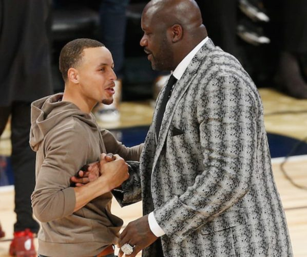 Steph Curry Shaq O'Neal Lakers