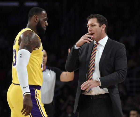 Lakers LeBron James Luke Walton Lakers