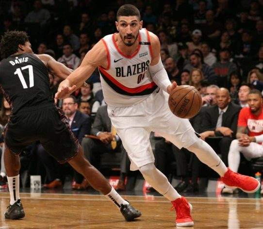 Enes Kanter Blazers Lakers