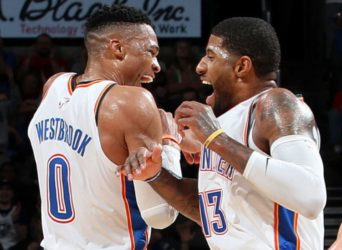 Russell Westbrook Paul george OKC Oklahoma City Thunder