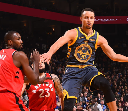 Curry Warriors Raptors NBA