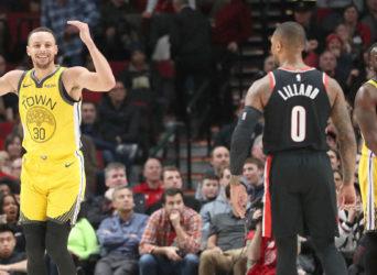 Warriors Blazers Curry Lilard