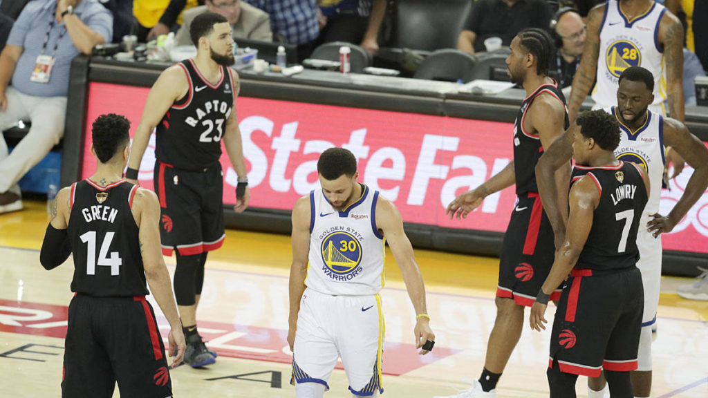 47 punktów Curry'ego to za mało – Raptors prowadzą 2-1