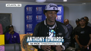 NBA Draft 2020 – Anthony Edwards z jedynką w Wolves